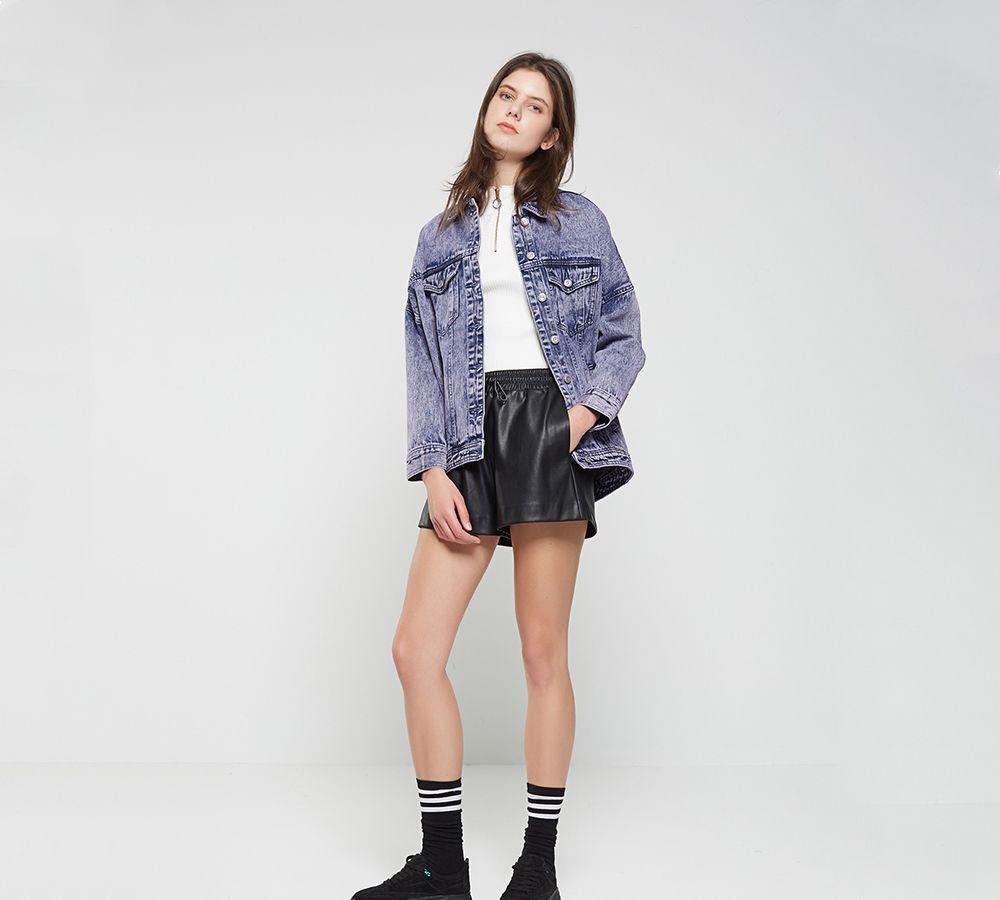 牛仔外套不仅百搭还很修身显个高,上身尽显帅酷潮流范 牛仔外套 5