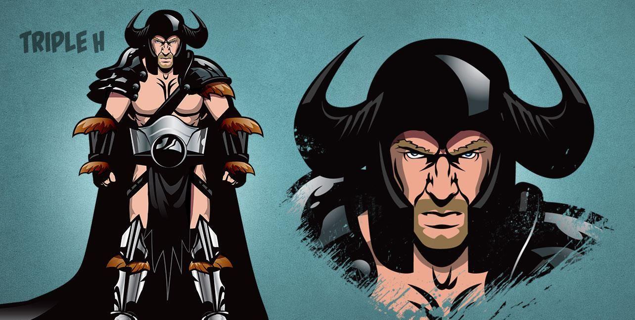 摔角明星超酷卡通服饰图集 看看有没你喜欢的?