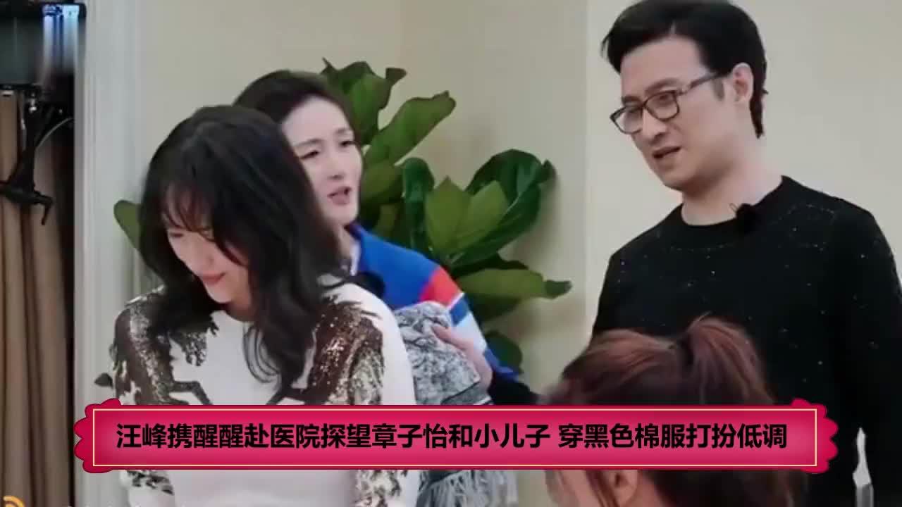 汪峰携醒醒赴医院探望章子怡和小儿子 穿黑色棉服打扮低调