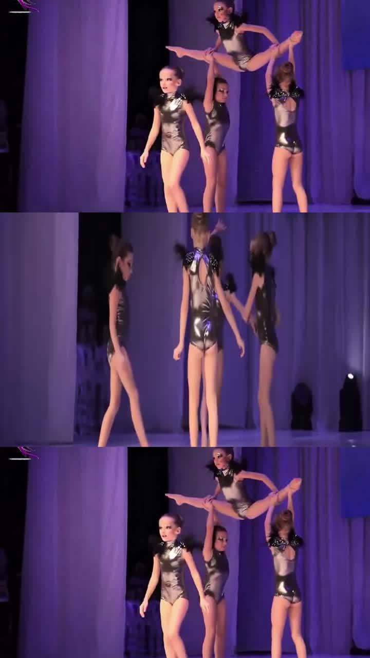从3岁开始学爵士舞小萝莉精彩表演令台下观众连连叫好