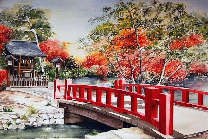 女画家眼中不一样的日本印象:作品来自法国美女Marie Claire