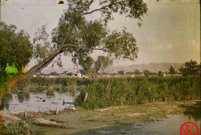 百年前彩色老照片:没有夏雨荷的济南大明湖