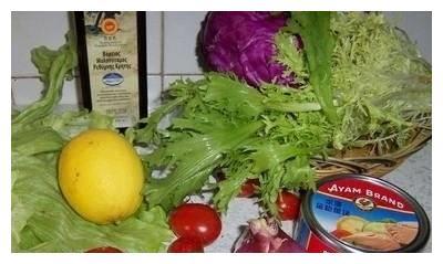 金枪鱼蔬菜沙拉 健康减肥明星菜 好吃到吃不停