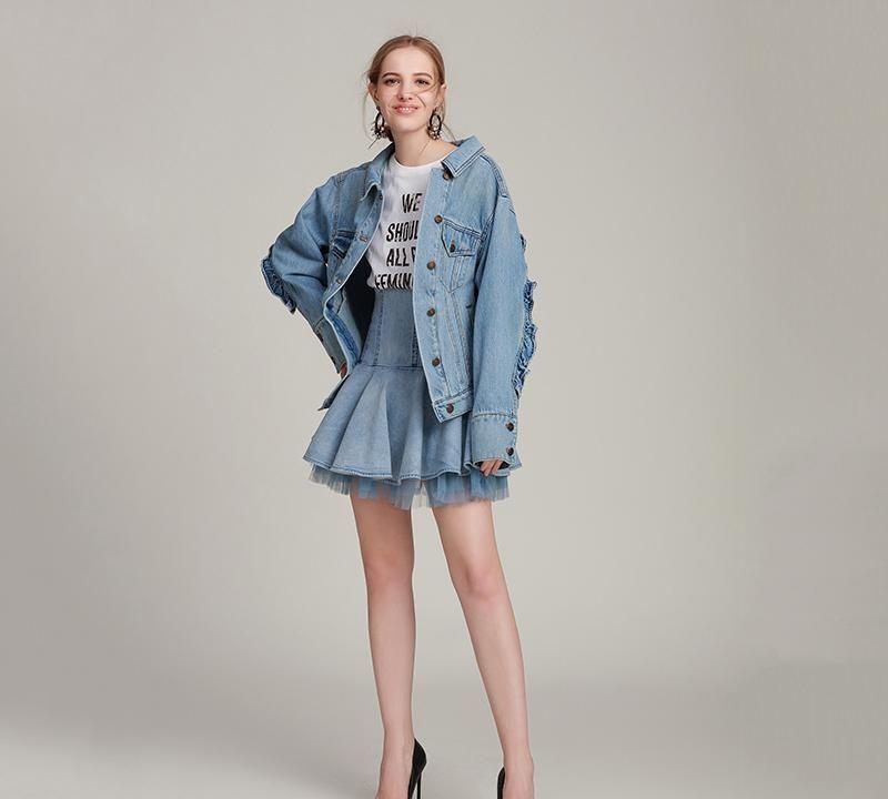 牛仔外套不仅百搭还很修身显个高,上身尽显帅酷潮流范 牛仔外套 2