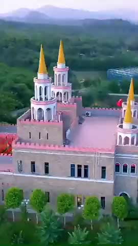 海南一座美丽的城堡太梦幻了走进城堡就像进入童话里