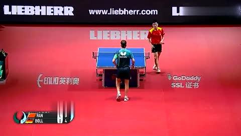 2018男乒世界杯决赛,樊振东发挥出色摘金,感觉对手要哭了