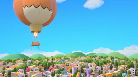 百变校巴:热气球飞向广场,破了一个洞,更加危险了!