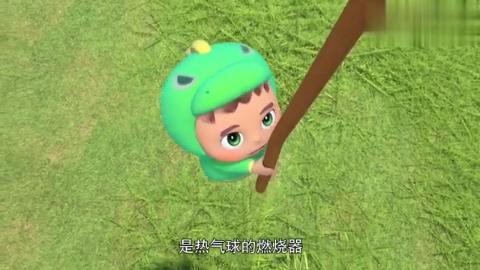 百变校巴:热气球飞自己飞起来了,没有飞行员会出危险的!