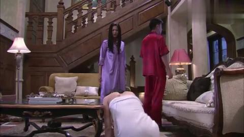 小保姆穿浴袍出现在客厅,男主人正好出现,也太巧了吧!