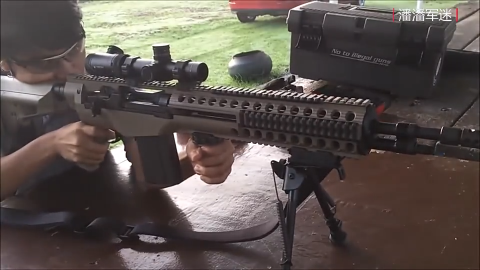 M14步枪靶场实弹射击评测,配备瞄准镜与支架都变样了!