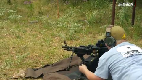 M60E4重机枪靶场射击评测,采用弹链供弹 威力不同凡响!