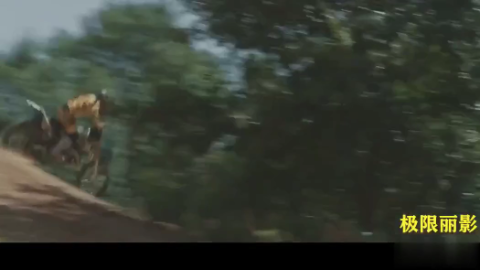 摩托:超难度的摩托技巧,空中人车分离!