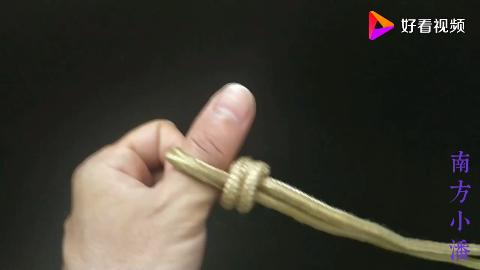 自由活动锁紧绳结怎么打套锁绳结的打法