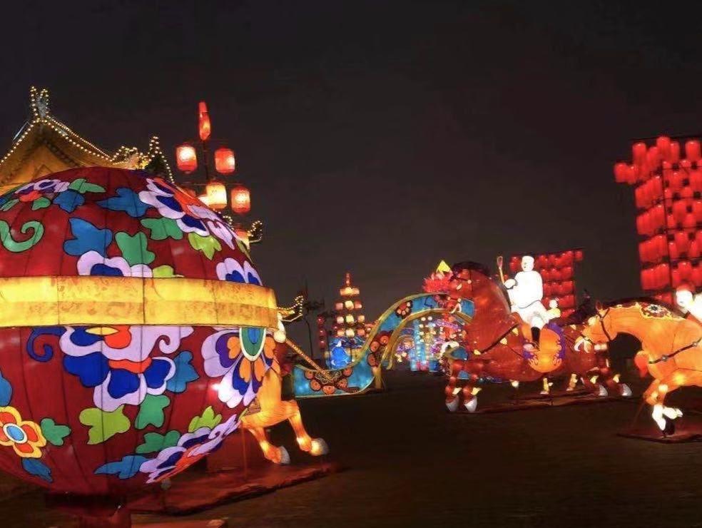 中国年看西安 庚子年西安城墙新春灯会于小年夜正式点亮