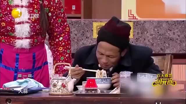 小品《吃面》宋小宝拼了,吃了三碗面三管辣根,全程高能