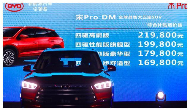 比亚迪宋Pro华南地区正式上市 售价8.98万起