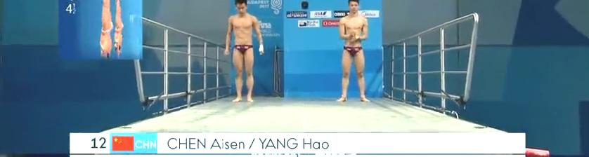 看看陈艾森杨昊这一跳,在空中翻了4圈半,这水花和没有似的!