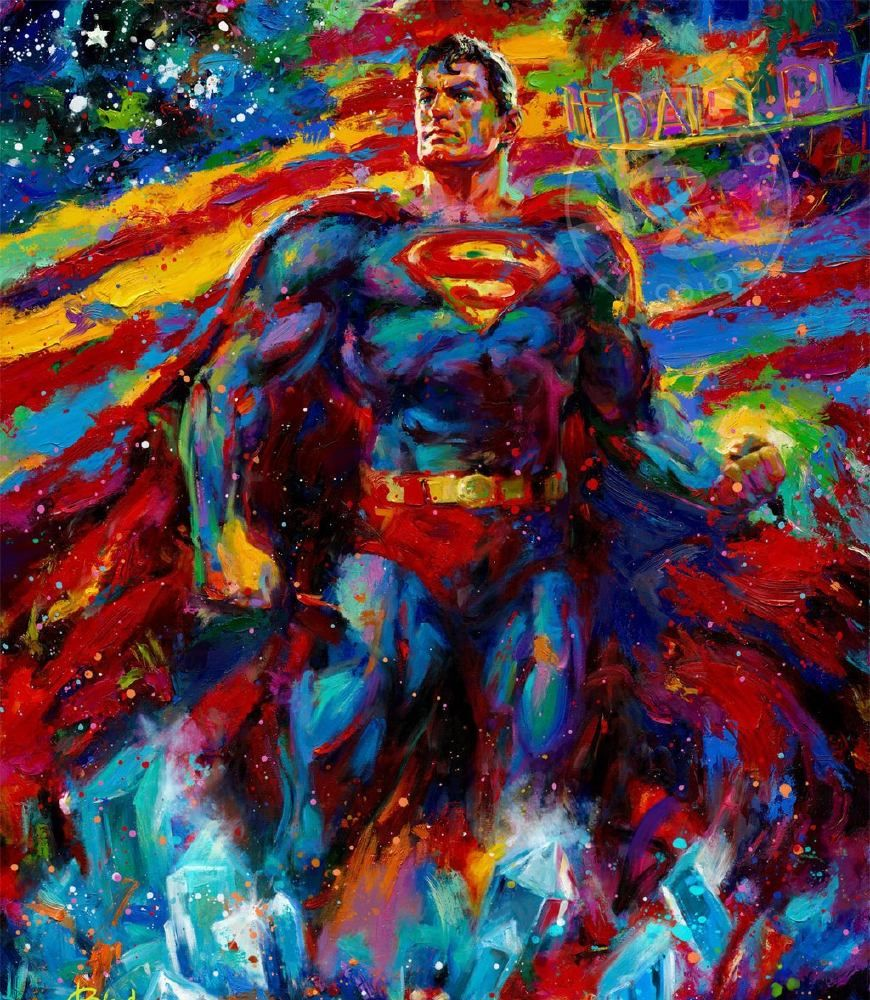 """DC插画大师的""""正义联盟""""插画欣赏!超人居然可以这么帅!"""