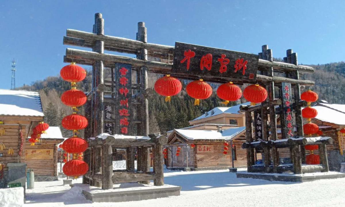 """雪乡""""贫雪"""",没雪的雪乡游客稀少,村民心急如焚"""