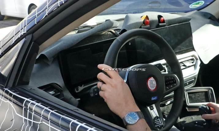 宝马i4内饰谍照曝光配贯穿液晶显示屏全面对抗Model3