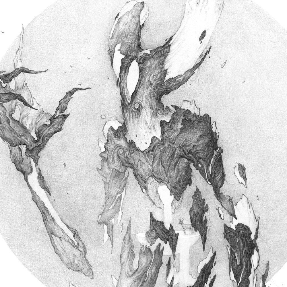 从奇异的生物到黑暗的超现实主义幻象,大多是用铅笔绘制