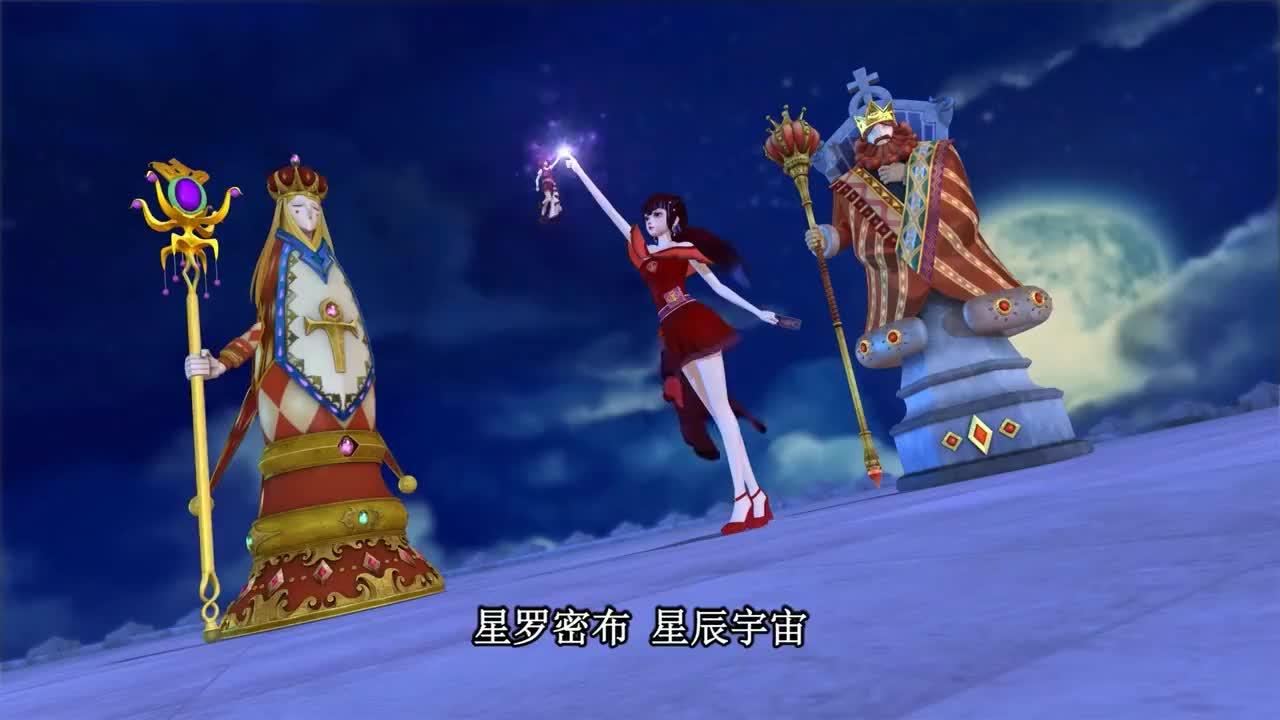 精灵梦叶罗丽齐娜与菲灵合作一起守护地球抵御攻击