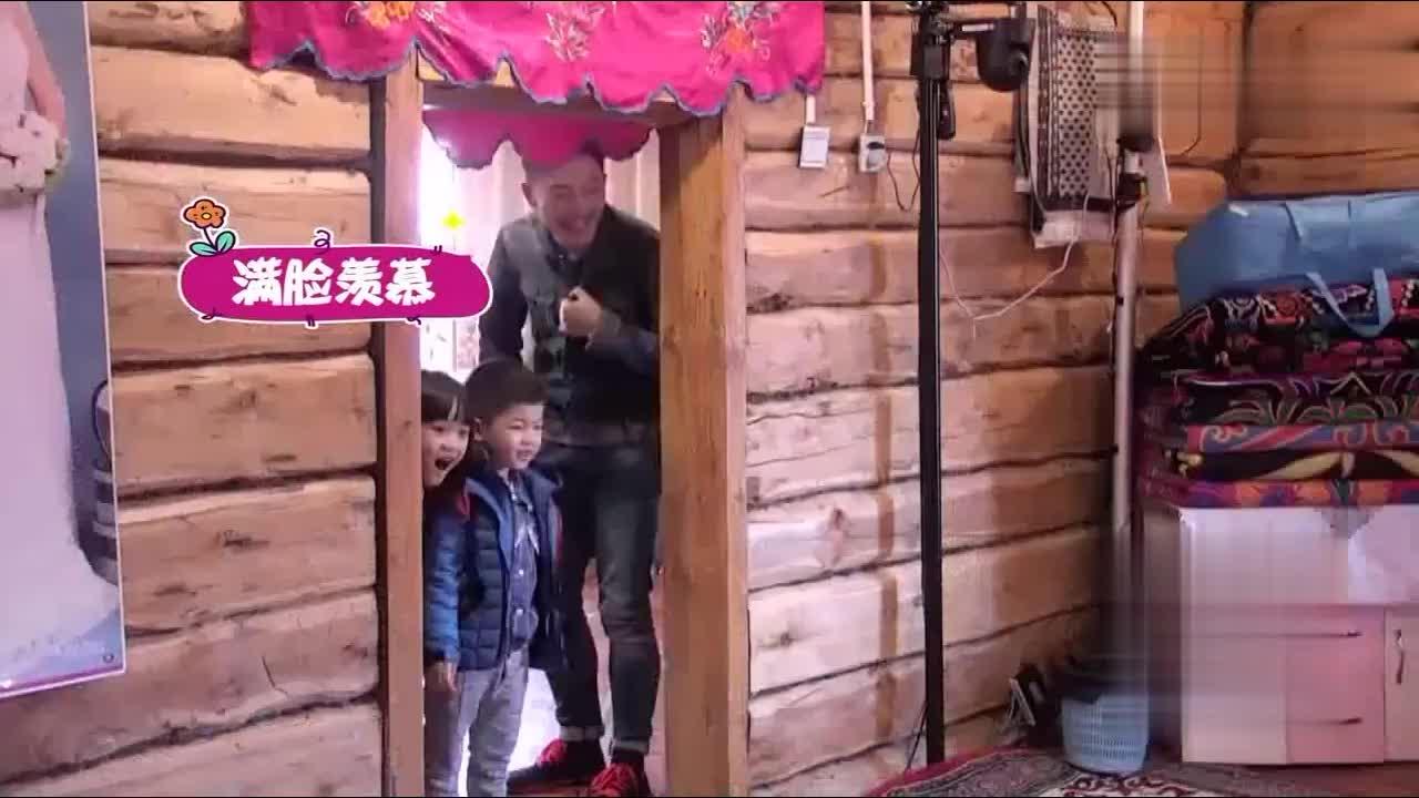 安吉看田亮都骑马了他也想骑老爸沙溢不同意安吉都气哭了