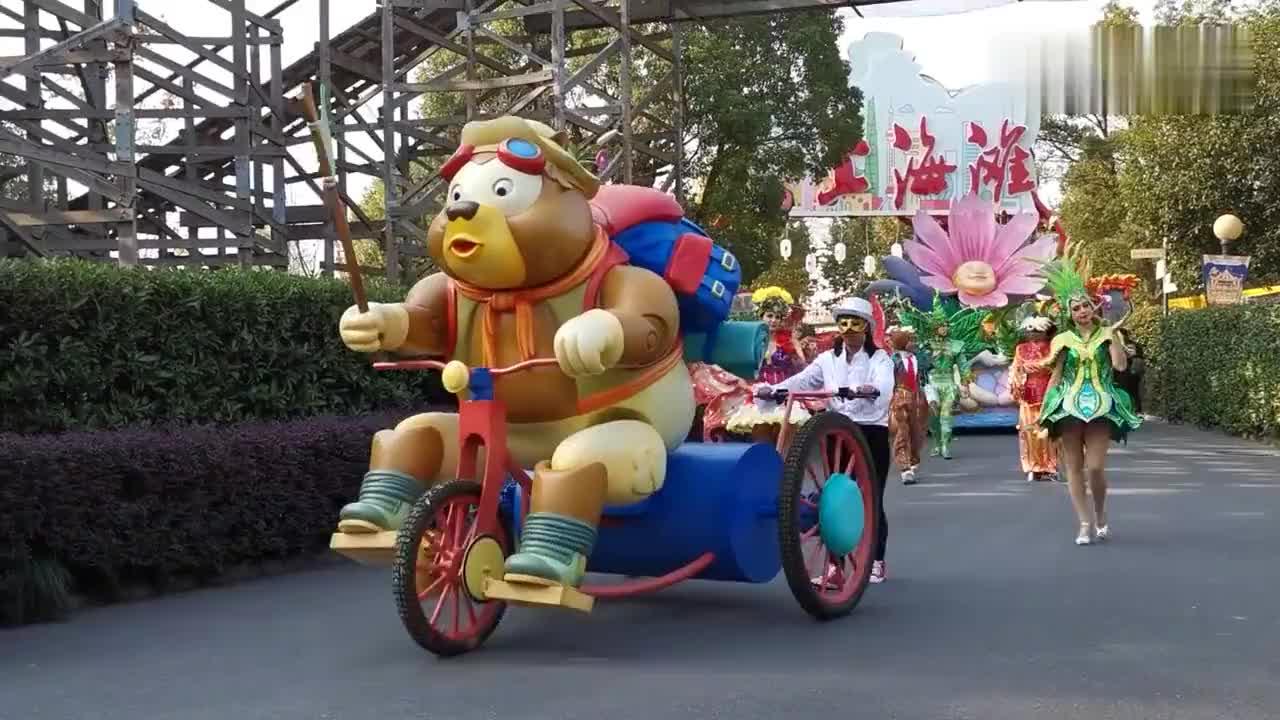 上海欢乐谷的外国人