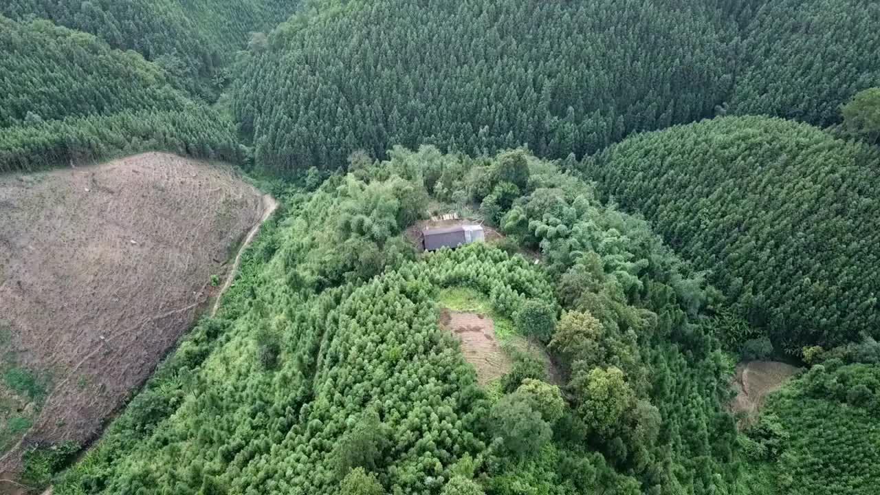 好拍视频在大山里发现一间房屋走近一看竟然还是有人住啊