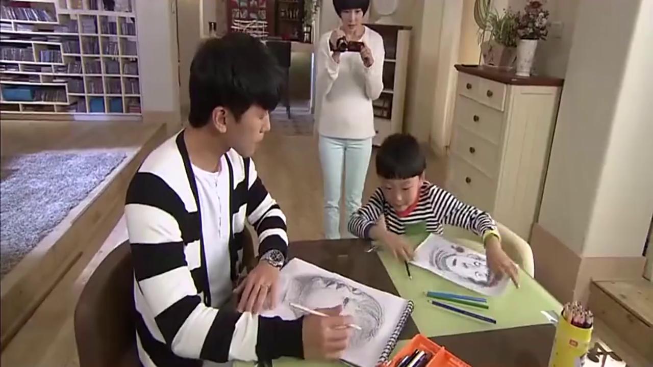 智障父亲要教领养的孩子画画,看到结尾忍不住笑了!