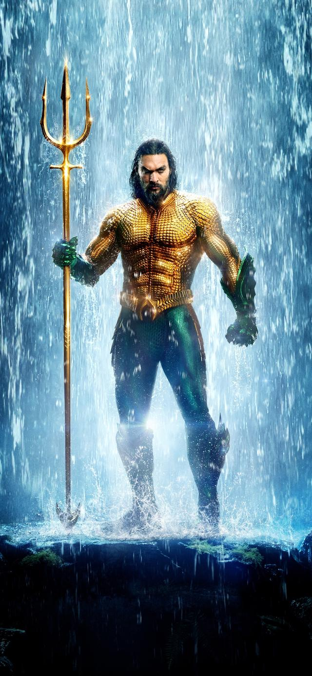 《海王》超清电影海报手机壁纸,dc超级英雄新片