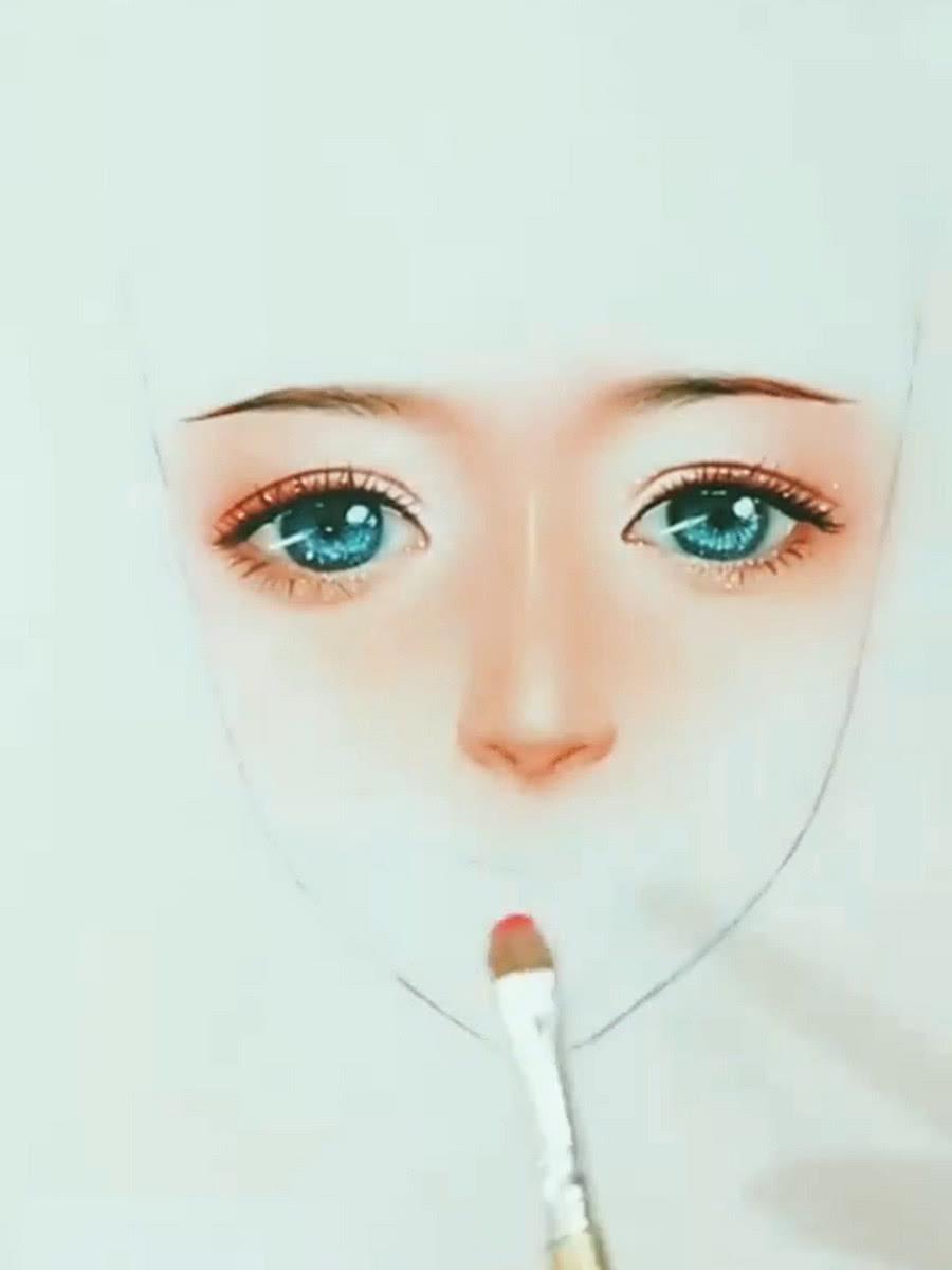 美术大佬手绘女生妆容,看到成画网友:化妆拯救颜值!