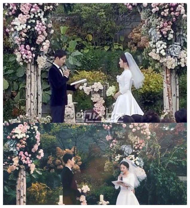 宋仲基婚礼上向宋慧乔表白孩子今后不论男女都随孩子妈妈姓