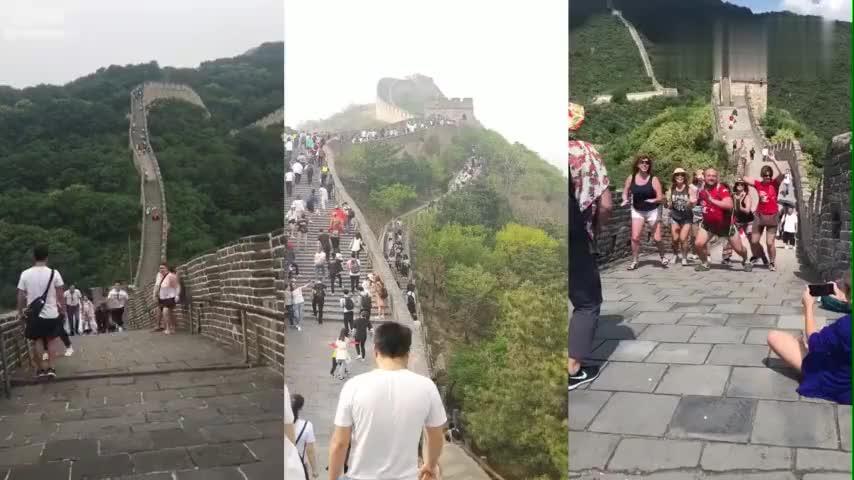 长城不愧是中国名胜古迹不管是国人还是老外都来这里
