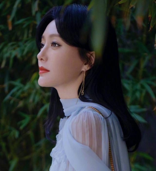演员秦岚写真,一个典雅高贵气质的女子