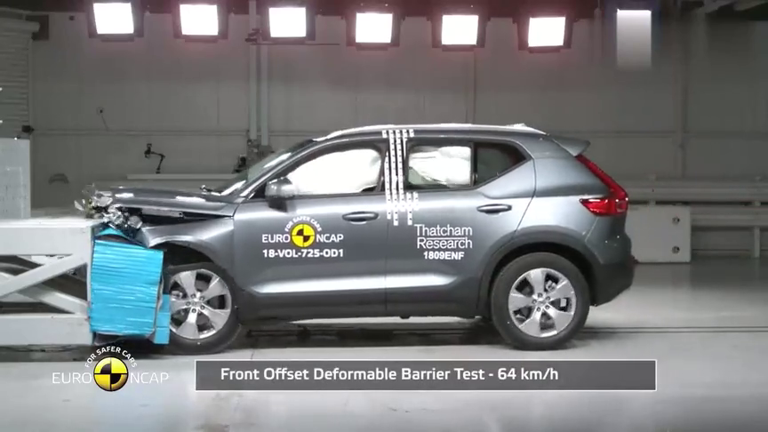 视频:2018款沃尔沃XC40碰撞测试,看完买不买自己拿主意