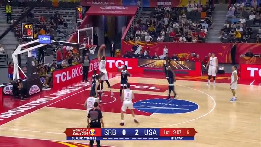 博格丹诺维奇28分帮助塞尔维亚战胜美国精彩集锦