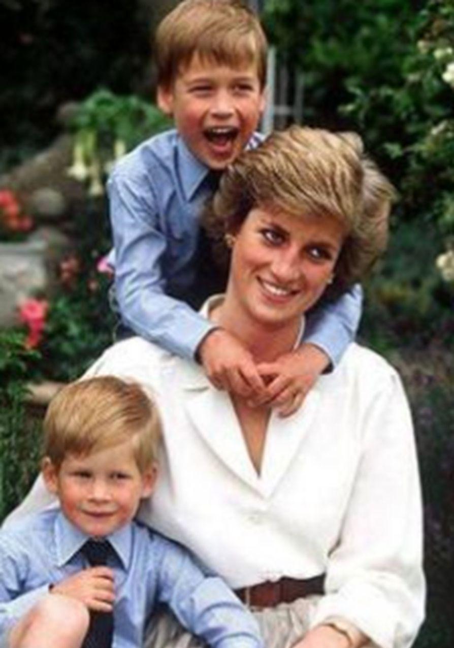 戴安娜王妃与两个儿子的温馨时光,最后一张罕见全家福