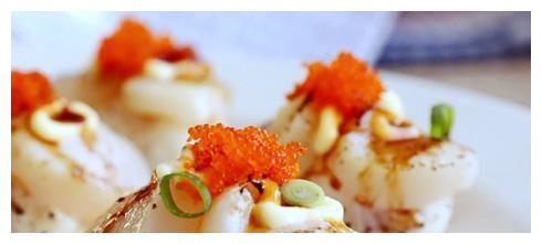 超级鲜美的鲜贝寿司,自己做的寿司就是好吃