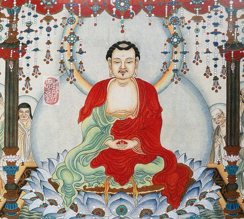 佛教绘画名家王定理先生的工笔佛像画作欣赏