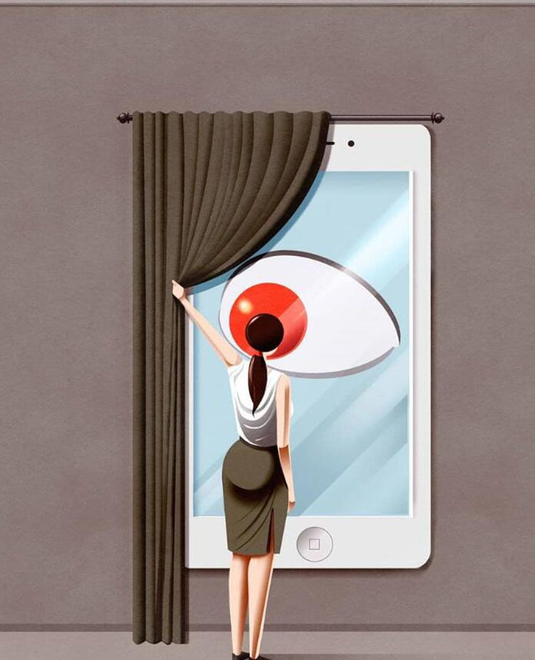10张现代人越活越不快乐的写实插画