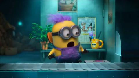 小黄人被感染,变身成为小紫,什么都吃