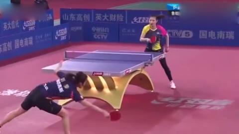 打削球太难了,乒超十四轮削球美女刘斐把杨蕙菁削的手软!