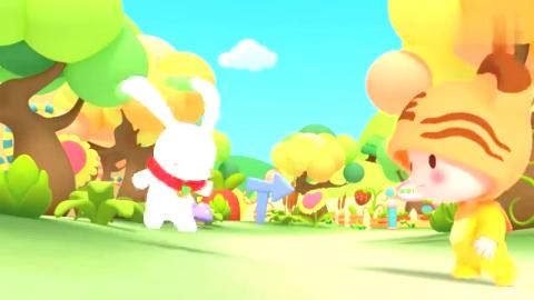 幼儿中英语教学:跟着逗逗虎和小白兔一起学单词:胡萝卜