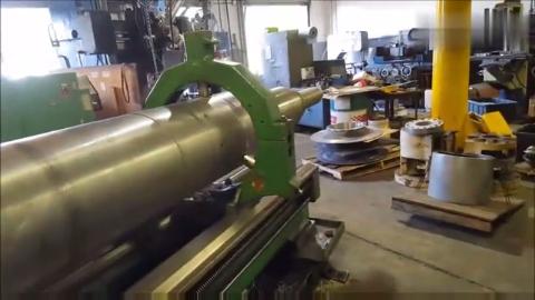 实拍一根长达6米的转轴加工,简直就是硬碰硬的实验!