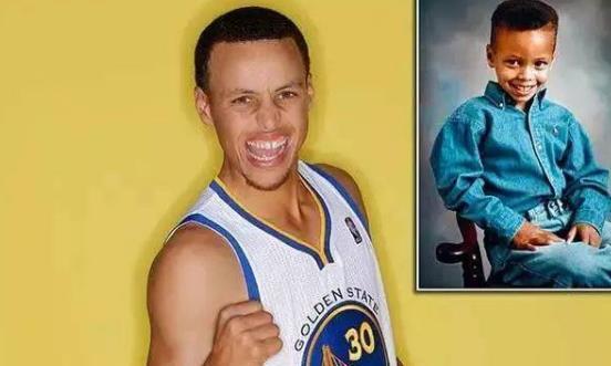 5位NBA球星童年照,姚明眯着眼睛都认得出,哈登小时候萌翻众人