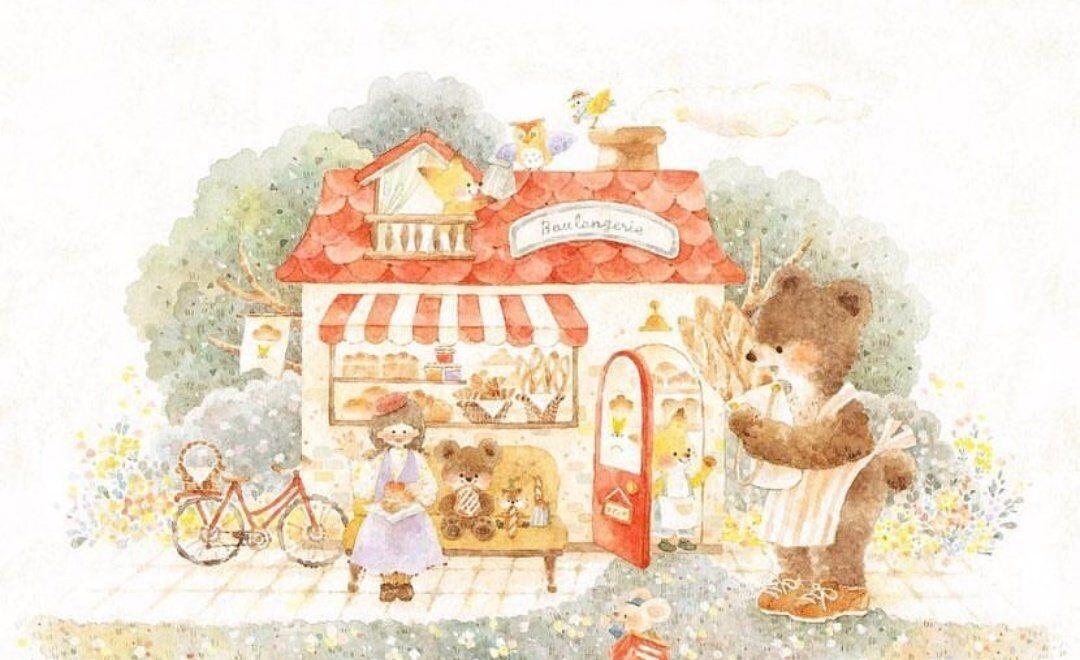非常治愈的童话系插画,简直太可爱太漂亮了