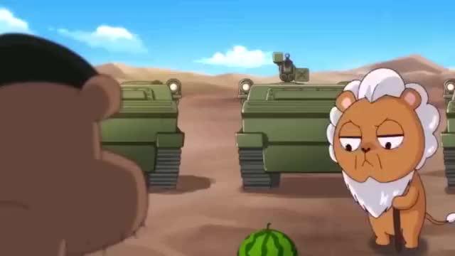 骆驼狮子是真的蠢,为了个西瓜,竟发动军事战争