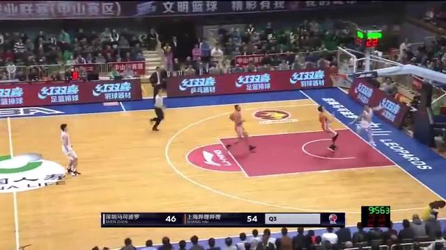 老大难!深圳队控卫于德豪抢断快攻,再次出现上空篮不进的窘境