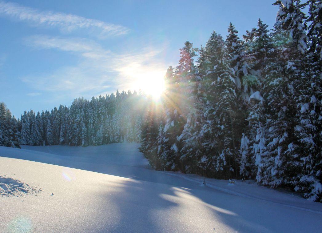 山表面有一些白色的积雪,乌云压得很低,我喜欢这赏心悦目的景色